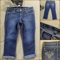Nine West Jean Capri Woman Size 8/29 Stretch Jegging Cropped Blue Capris  Photo