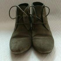 Nine West Joeyo Wedge Ankle Booties Gray Grey Woman's Boots Size 6 1/2 M Used Photo