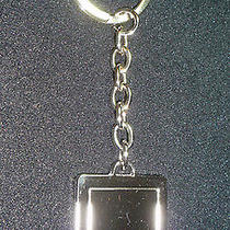 Nine West Key Chain Ring Square Engraved Womens Keys  Free Shipping   J148 Photo