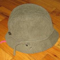Nine West Khaki Green Cordhuroy Hat Small/medium (Originally 50) Photo