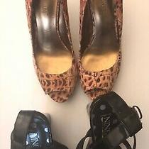 Nine West Leopard Print Pumps  Nine & Co Sandals Women's Shoes Size 6m & 6 1/2 Photo