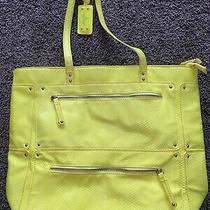 Nine West Neon Yellow Shoulder Bag Purse Photo