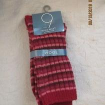 Nine West New With Tags Wool Crew Socks Lambswool City Red Photo