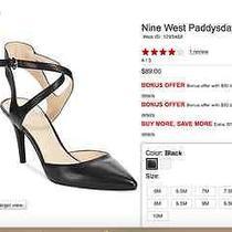 Nine West Paddysday Pumps/heels 7.5m Black Like New-Worn 1 Hour  Photo