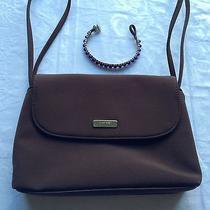 Nine West Purple Bracelet and Small Brown Handbag Evening Bag Purse Photo