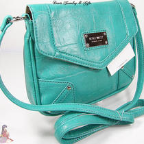 Nine West Purse Shoulder Crossbody Aqua Teal Blue Party Hand Bag Murray Nwt Photo
