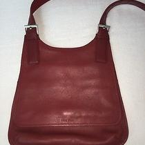 Nine West Red Leather Crossbody/messenger Bag With Silver Hardware Photo