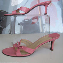 Nine West Shoes Womens Sandals Leather Pumps Heels Size 8.5 Pink Photo