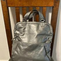 Nine West Silver Purse/tote/bucket Large/medium Cleaned Photo