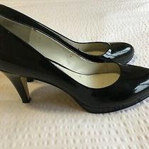 Nine West Size 8 Selene Patent Black Leather Round Toe Classic Pumps Photo