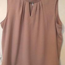 Nine West Sleeveless Blouse Size 3xl Blush Light Pink Photo