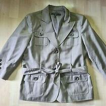 Nine West Suit Blazer Womens Size 14 Jacket Belted Tie Waist and 3/4 Sleeve  Photo
