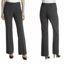 Nine West Suit Trouser Size 8 X 31 Gray Tailored Lined Flat Front Pants Photo