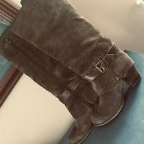 Nine West Vintage America Collect Brown Suede Leather Knee High Boots Size 8 Photo