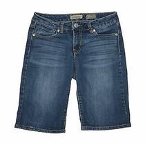 Nine West Vintage America Women Blue Denim Shorts 6 Photo