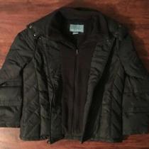 Nine West Women's Black Jacket Double Zipper Size Large Photo