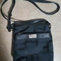 Nine West Women's Black Shoulder Bag Purse Internal External Zipper Pockets Used Photo