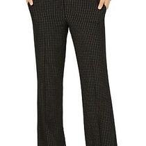 Nine West Women's Dress Pants Black Size 4 Windowpane Straight Stretch 89 660 Photo