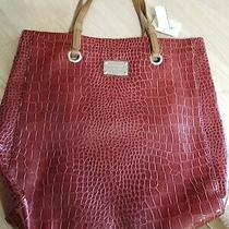 Nine West Women's Handbag Purse Bag Nwt Burgundy Tote Xl Retail 84.00 Photo