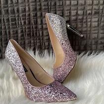 Nine West Womens Size 8.5 Glitter Ombre High Heel Shoes Pumps Nwob Pink Silver Photo