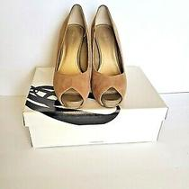 Nine West Women's Suede Heels Good Condition... Taupe Size 8 Photo