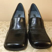 Nine West Womens Black Leather Dress Pumps 6m - Very Nice Photo