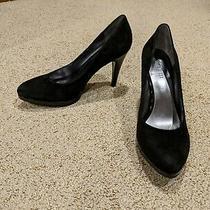 Nine West Womens Black Suede High-Heel Pump (Size 8) Photo