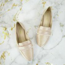 Nine West Womens Blush Pink Champagne Baruti Loafers Flats Size 6 Photo
