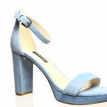 Nine West Womens Dempsey Medium Blue Ankle Strap Heels Size 7 (968941) Photo