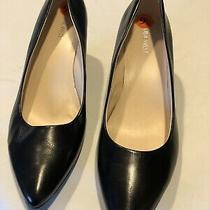 Nine West Womens Shoes Size 9.5m Black  3 Inch Wedge Heel Photo