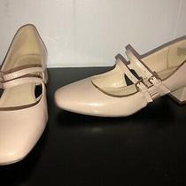 Nine West Womens Weirley Beige Patent Dress Heels Shoes 8m Preowned Photo