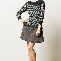 Nip 98 Anthropologie by Yellow Bird Sparked Houndstooth Pullover Sz Xl  Photo