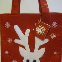 Nip Avon Felt Reindeer Tote Gift Bag  New in Package  Photo