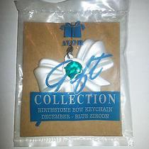 Nip Avon Gift Collection Bow Keychain - December Birthstone - Blue Zircon Photo
