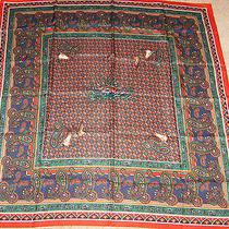 Nip Avon Paisley Pattern Scarf Red Paisley Design 1989 Photo