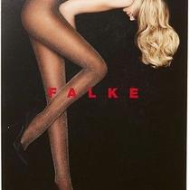 Nip Falke Black Lurex Rib Tights Pantyhose M Gold Black Photo
