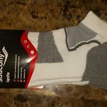 Nip Men's 2 Pair Saucony Ignite No Show Tab Cushioned Socks Xl 12-14  Grey/white Photo
