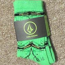 Nip Volcom Creature  Socks Green Little Youth  Age 2-7 Msrp 10  Photo