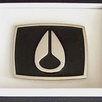 Nixon 35 Metal Interchangable Belt Buckle Enamel Paint Black-Silver Brand New Photo
