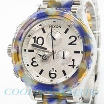 Nixon A037-1116 A0371116 42-20 Acetate Ladies Watch Chrono Water Color Ems New Photo