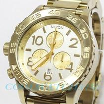 Nixon A037-1219 A0371219 Watch Unisex 42-20 Chrono Champagne Gold Silver Ems New Photo