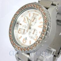 Nixon A037-1519 A0371519 Ladies Watch 42-20 Chrono Silver Champagne Crystal New Photo
