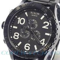 Nixon A083-001 A083001 Watch Mens 51-30 Chrono All Black W/ 1 Extra Link Ems New Photo