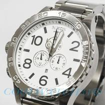 Nixon A083-100 A083100 Watch Mens 51-30 Chrono Silver White W/extra Link Ems New Photo