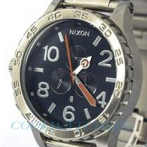 Nixon A083-307 A083307 51-30 Watch Mens Chrono Navy Blue W/extra Link Ems New Photo