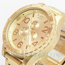 Nixon A083-502 A083502 Watch Mens 51-30 Chrono All Gold W/ 1 Extra Link New Ems Photo