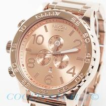 Nixon A083897 A083-897 Watch Mens 51-30 Chrono All Rose Gold W/1 Extra Link New Photo