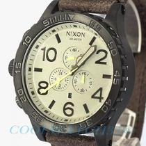 Nixon A124-1388 A1241388 Watch Mens 51-30 Chrono Gunmetal Brown Leather Sale New Photo