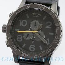 Nixon A124-680 A124680 Watch Mens 51-30 Chrono Leather All Gunmetal / Black New Photo