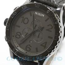 Nixon A124-848 A124848 Mens Watch 51-30 Chrono Leather Black Authentic Ems New Photo